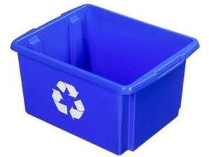 Nesta eco opbergbox 32 liter - blauw - 24x36x45