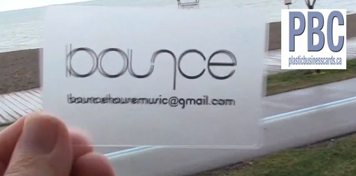 Video Pictures frosted plastic business cards