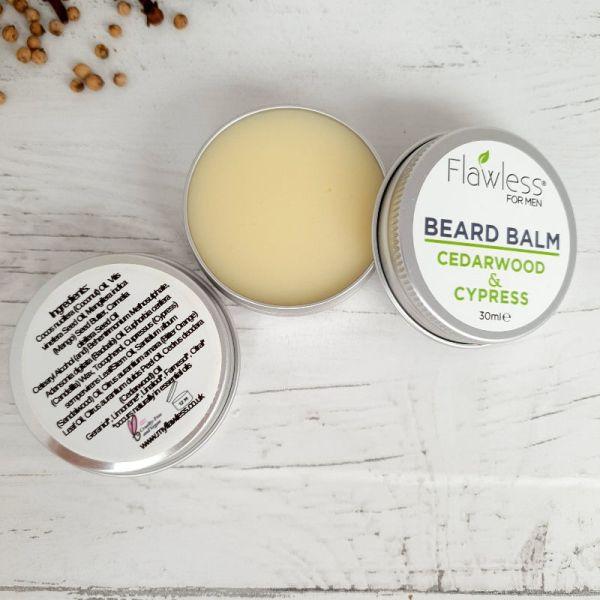 Cedarwood & Cypress Beard Balm Plastic Free Vegan (1)