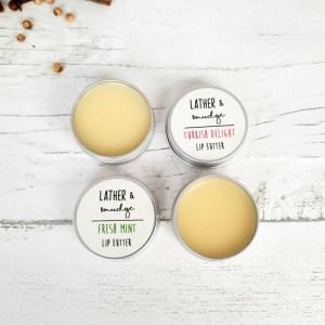 Natural Lip Butter - Fresh Mint Turkish Delight - Plastic Free Vegan