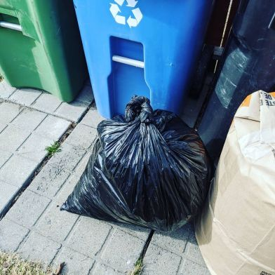 Bag of litter from the community cleanup, a highlight of 2020