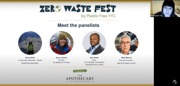 Screenshot of one of the zero waste festival sessions, a highlight of 2020