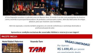 Foto de Abiplast e Feiplastic representarão o Brasil em feira na Argentina