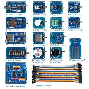 Kit de módulo de Sensor de alta calidad con protección de Sensor de expansión IO para Arduino UNO R3 / Mega2560 R3/ Leonardo, Kit de iniciación
