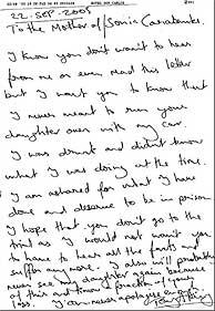 carta arrepentimiento Sonia