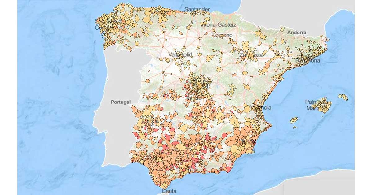 Mapa interactivo de la pobreza infantil en España