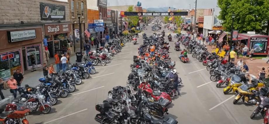 Motorcycle rally in Sturgis, South Dakota