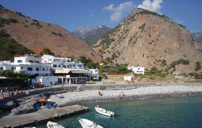 The village of Agia Roumeli