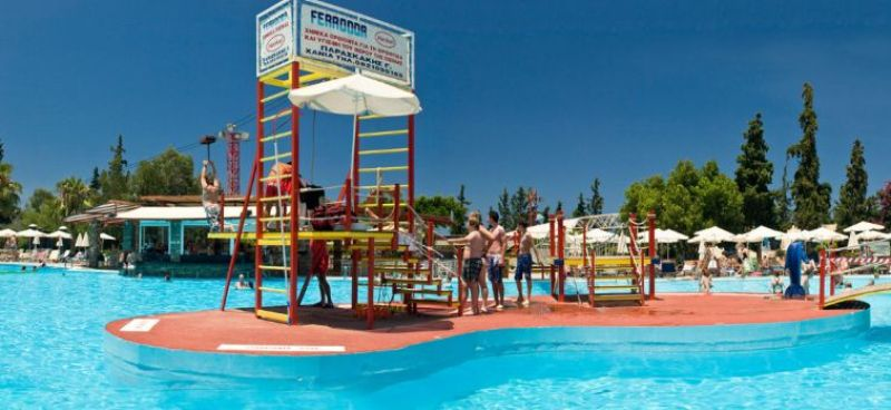 Main stage of  Limnoupolis Water Park