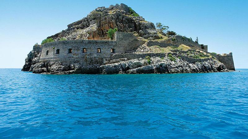 Spinalonga island boat