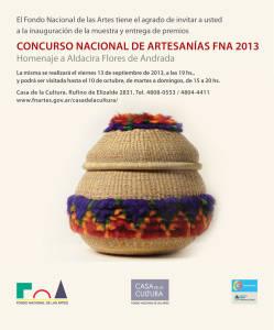 Concurso Nacional de Artesanías 2013 Fondo Nacional de las Artes  Buenos Aires Argentina