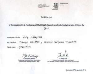 2014 Certificado ExcelenciaWCC