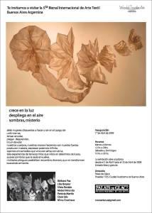 V Bienal Textil WTA  Palais de Glace