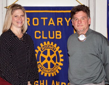 The Rotary Club of Highlands welcomes new member Beverly Berkstresser.