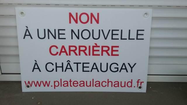 Panneau Non à une nouvelle carrière à Châteaugay : format individuel