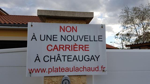 Panneau Association Préservons le Plateau de Lachaud