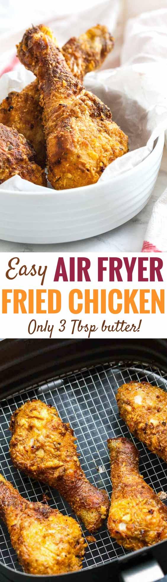 AirFryer Chicken Drumsticks {Easy Air Fryer fried chicken ...