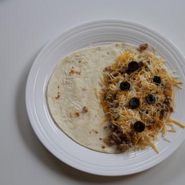 Open quesadilla