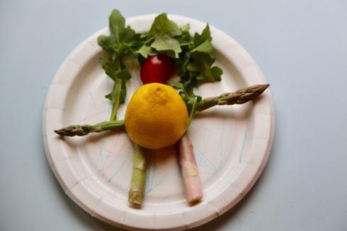 Asparagus People Vegetable Craft