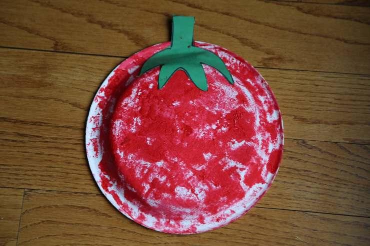 Sponge Art Tomato Craft