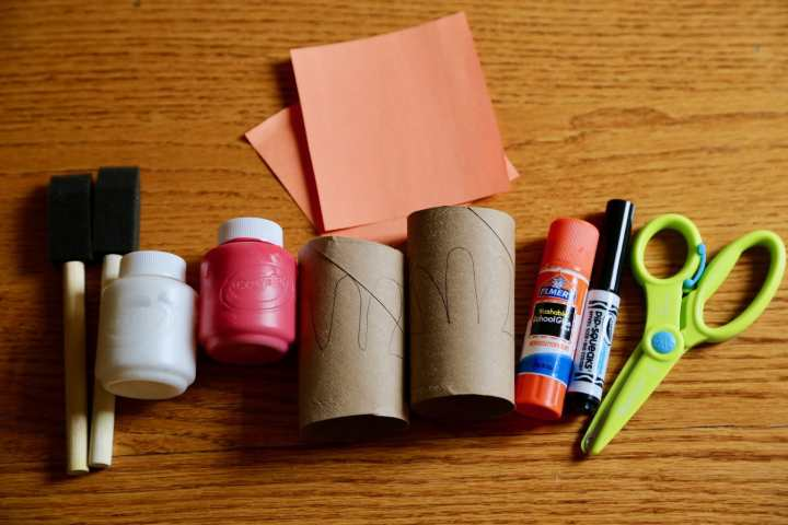 supplies for chicken napkin rings craft