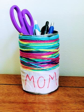 Snazzy Can Pencil Holder
