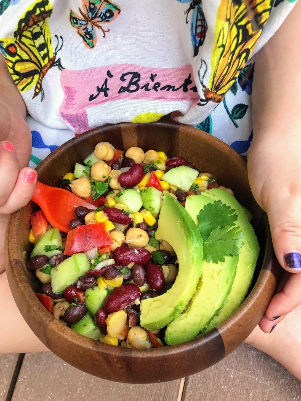 Three Bean Salad in Bowl