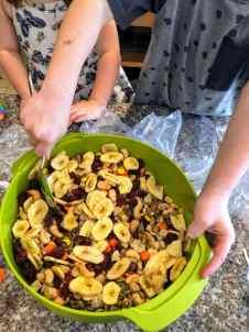 Stirring Homemade Trail Mix