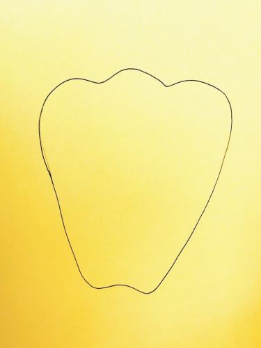 tracing yellow pepper