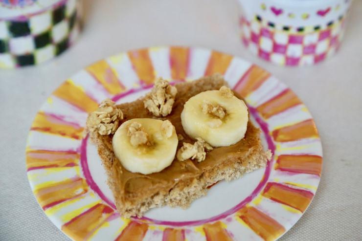 peanut butter banana finger sandwhich