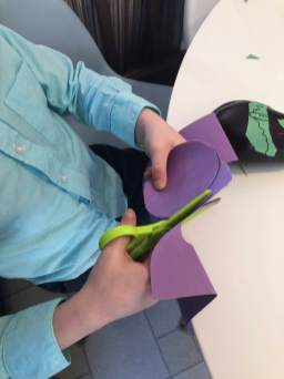 Cutting out witch hat