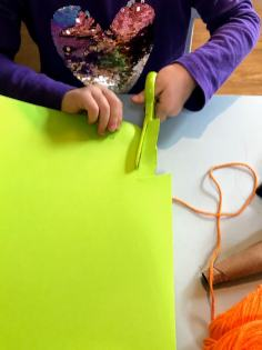 cutting out green strands