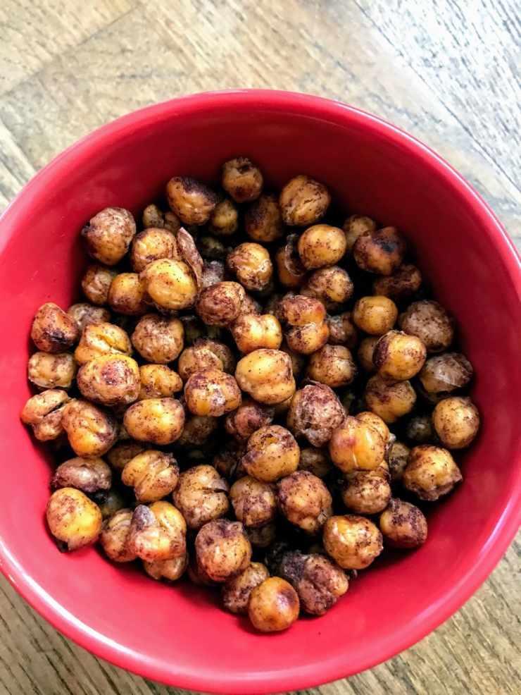 Roasted Chickpeas with Cinnamon and Sugar