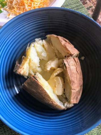 Butter in baked potato