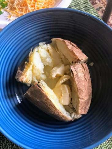 Butter in baked potato