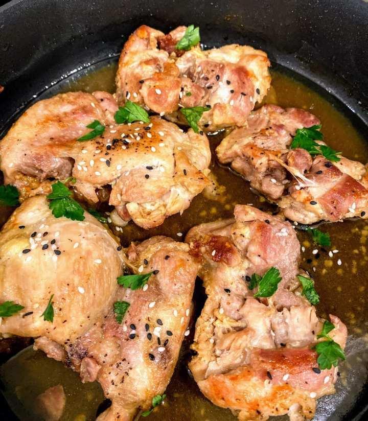 Easy Honey Garlic Chicken Thighs2