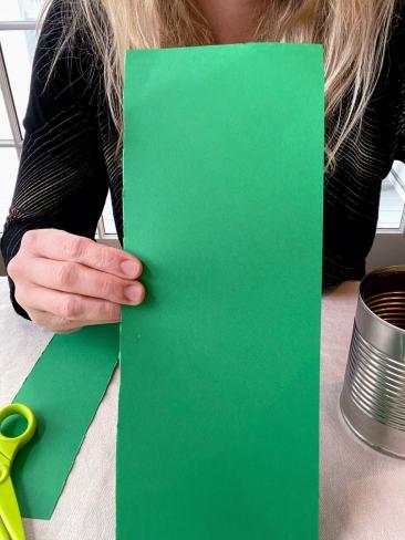 long strip green paper