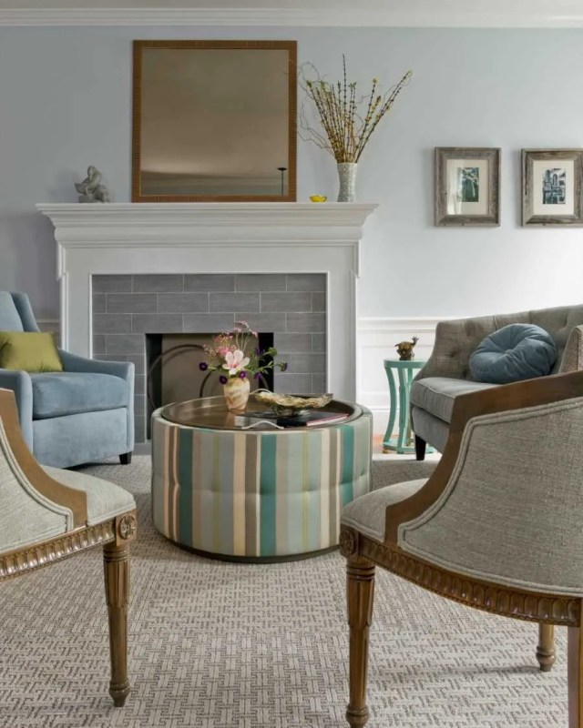 Platemark Interior Design Brookline Fireplace