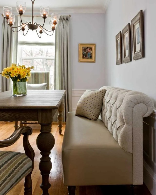 Platemark Interior Design Brookline Dining Room Banquette