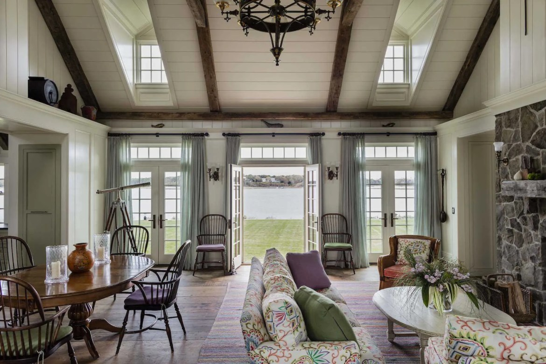 Platemark Interior Design Chatham Living Room Ocean View