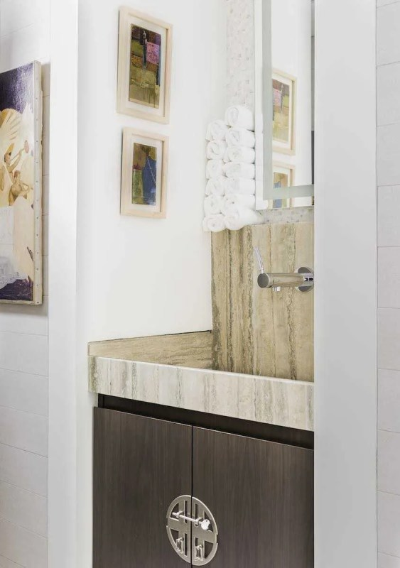 Platemark Interior Design Commonwealth Avenue Powder Room