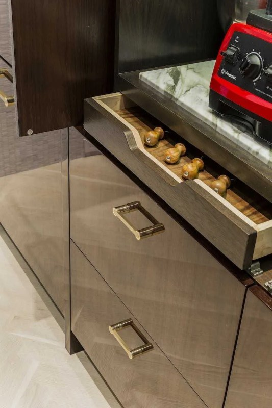 Platemark Interior Design Commonwealth Avenue Kitchen Drawer Detail