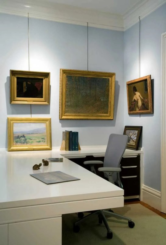 Platemark Interior Design Newbury Street Gallery Art Desk Corner