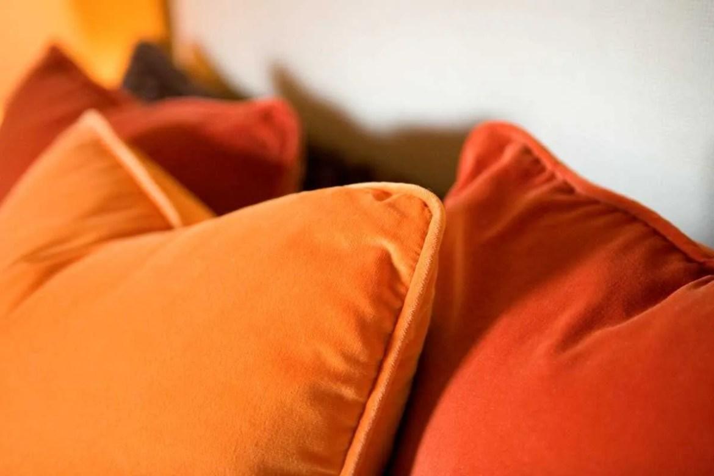 Platemark Interior Design South End Tremont Street Bedroom Pilows