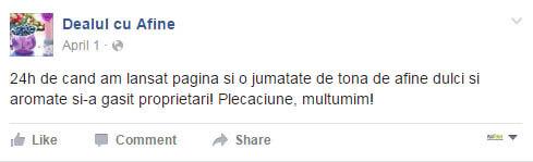 Dealul cu Afine si pagina lor de facebook