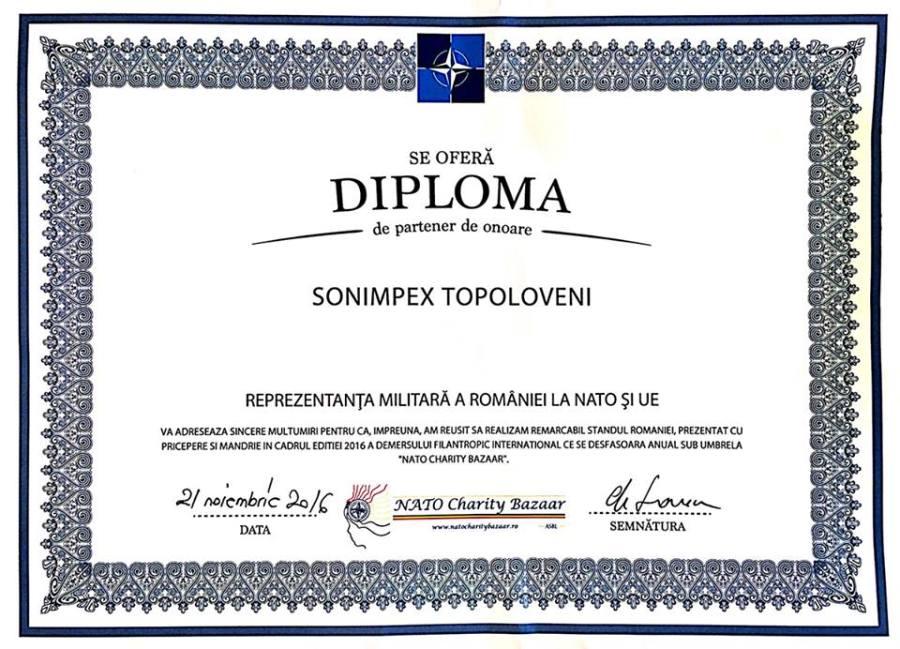 Diploma Sonimpex Topoloveni