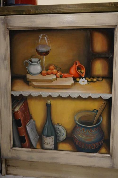 Mobila de bucatarie pictata manual de Mircea Ungurean (13)