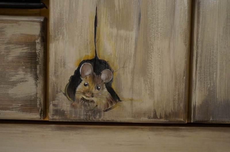 Mobila de bucatarie pictata manual de Mircea Ungurean (15)