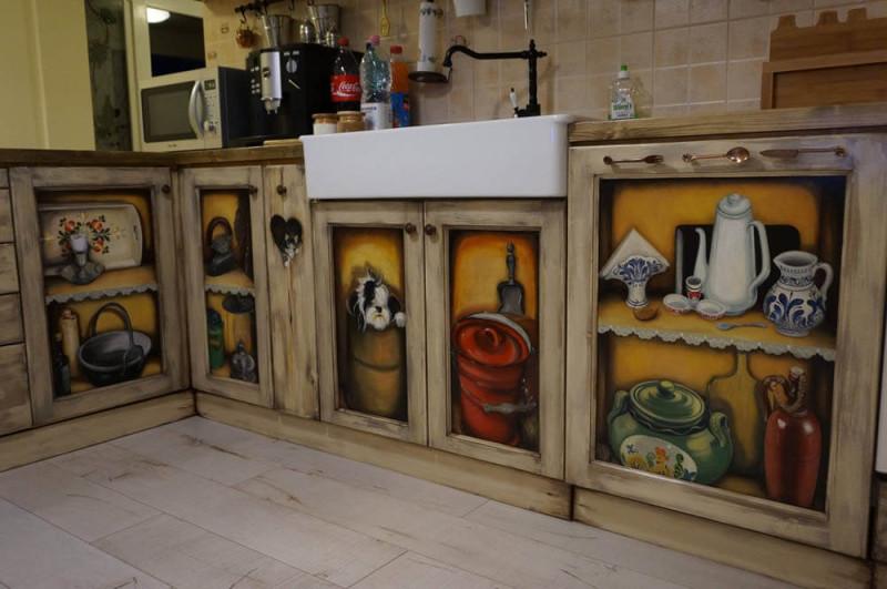 Mobila de bucatarie pictata manual de Mircea Ungurean (2)