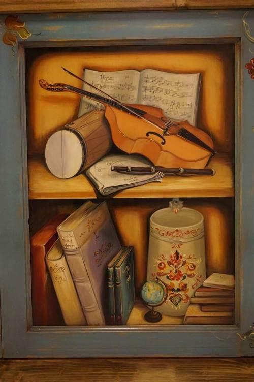 Mobila de bucatarie pictata manual de Mircea Ungurean (21)